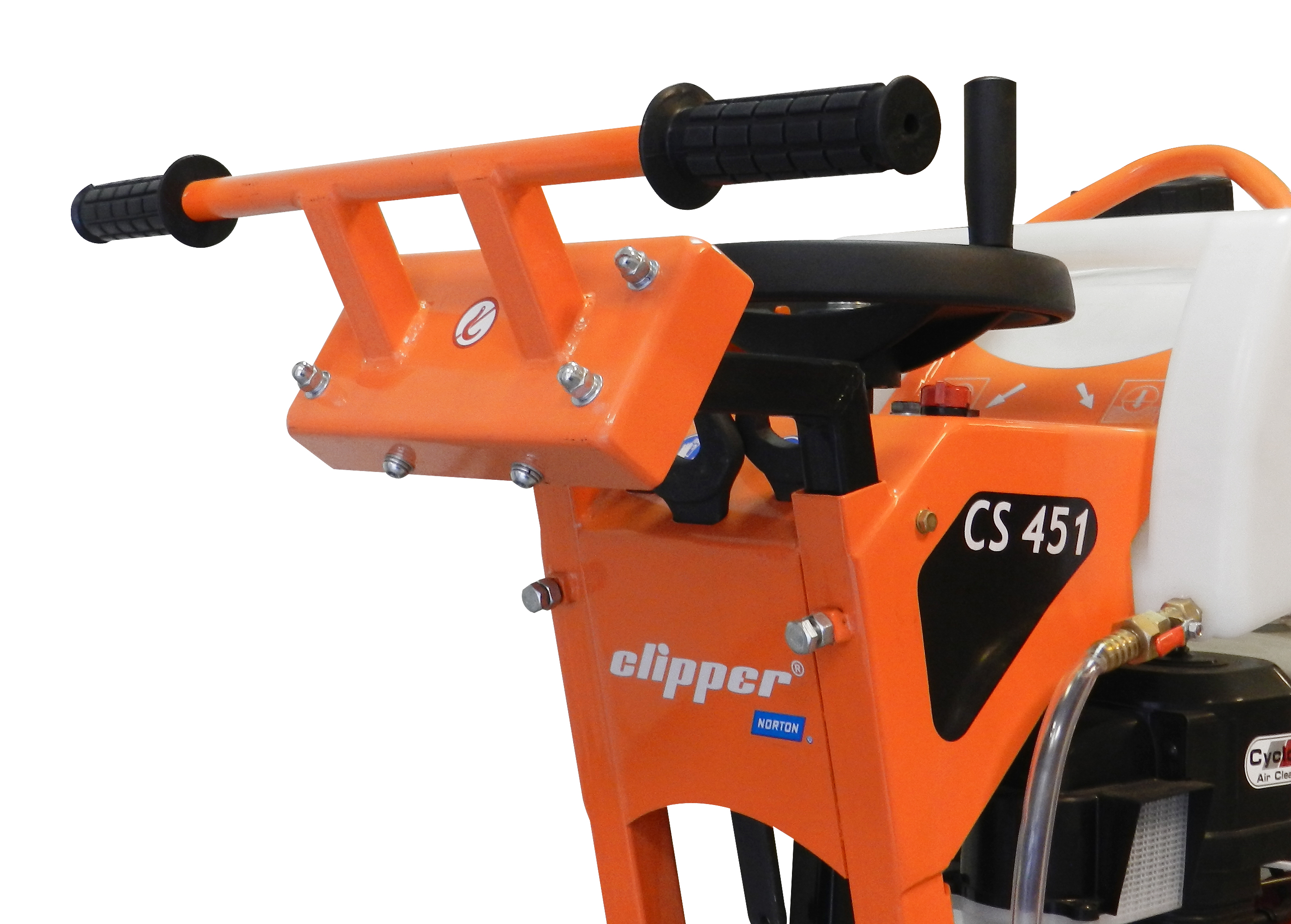 CS451 Floor saw vibration dampening technology