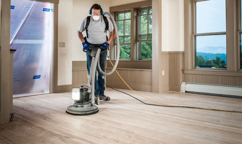 Buffing is the final stage in the wood floor sanding sequence