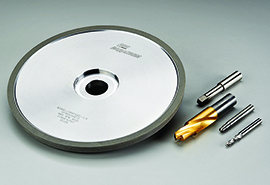 Norton Paradigm Diamond wheel and finished drill bits