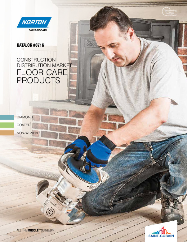 Norton Construction Distribution Market Floor Care Products Catalog 8716