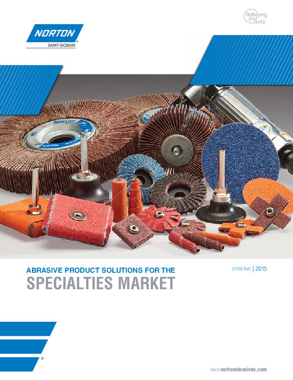 Norton Abrasive Products for the Specialties Market Catalog