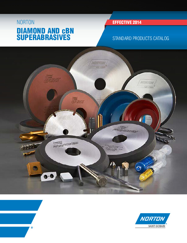 Norton Diamond and cBN Standard Products Catalog - 8068
