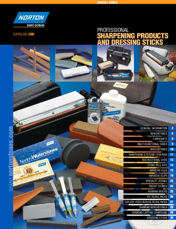 Norton Sharpening Products and Dressing Sticks Catalog - 200