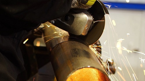 angle grinder cutting metal