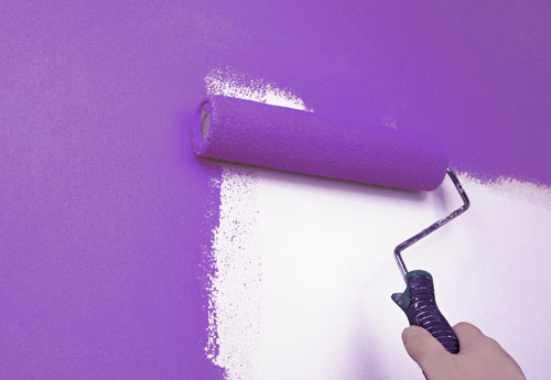 Painting a wall purple