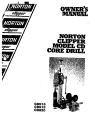 Norton Clipper Core Drill CD915, CD918, CD920 Parts List