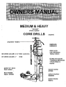 Norton clipper Core Drill DM & DH Series Owners Manual & Parts List