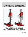 Norton Clipper Core Drill DR520 & DR620 Owners Manual & Parts List