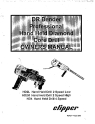 Norton Clipper Core Drill HD Series DRBender Owners Manual & Part List