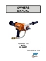 Norton Clipper Core Drill HHD323 Owners Manual & Parts List