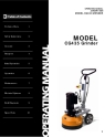Norton Clipper Floor Grinder/Polisher CG435 Owners Manual & Parts List