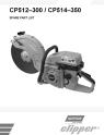 Norton Clipper High-Speed Saw CP512 & CP514 Series Parts List