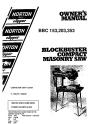 Norton Clipper Masonry Saw BBC153, BBC203, and BBC353 Parts List