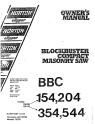 Norton Clipper Masonry Saw BBC154, 204, 354, and 544 Parts List