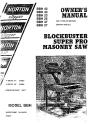 Norton Clipper Masonry Saw BBH Series Parts List - Rev. 2007