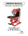 Norton Clipper Masonry Saw BBL Series Owners Manual & Parts List
