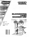 Norton Clipper Masonry Saw BBL Series Parts List - Rev. 2007