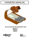 Norton Clipper Masonry Saw BBM Series Parts List