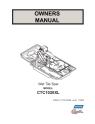 Norton Clipper Tile Saw CTC1020XL Owners Manual & Parts List - Part 1