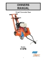 Norton Clipper Walk-Behind Saw C13PE Owners Manual & Parts List