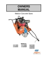 Norton Clipper Flat Saw C14/C20 Series Owners Manual & Parts List