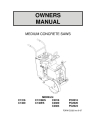 Norton Clipper Flat Saw C13/C20/PC20 Series Owners Manual & Parts List