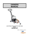 Norton Clipper Flat Saw GC25EUP Owners Manual & Parts List - Rev. 2013