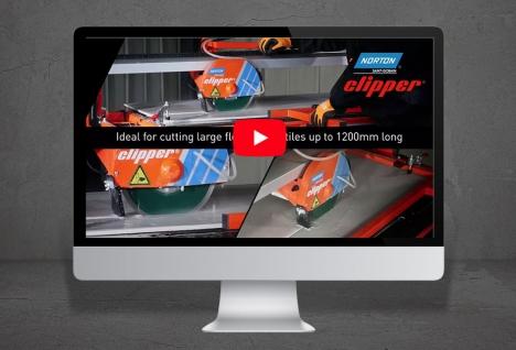 Norton Clipper TR232L kakelsåg video