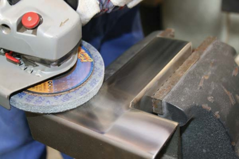 Finishing a weld