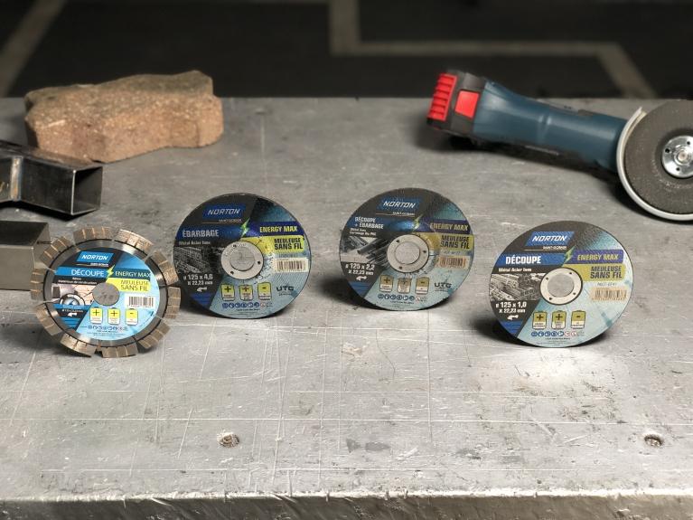 Gamme de disques Norton Energy Max pour meuleuse sans fil