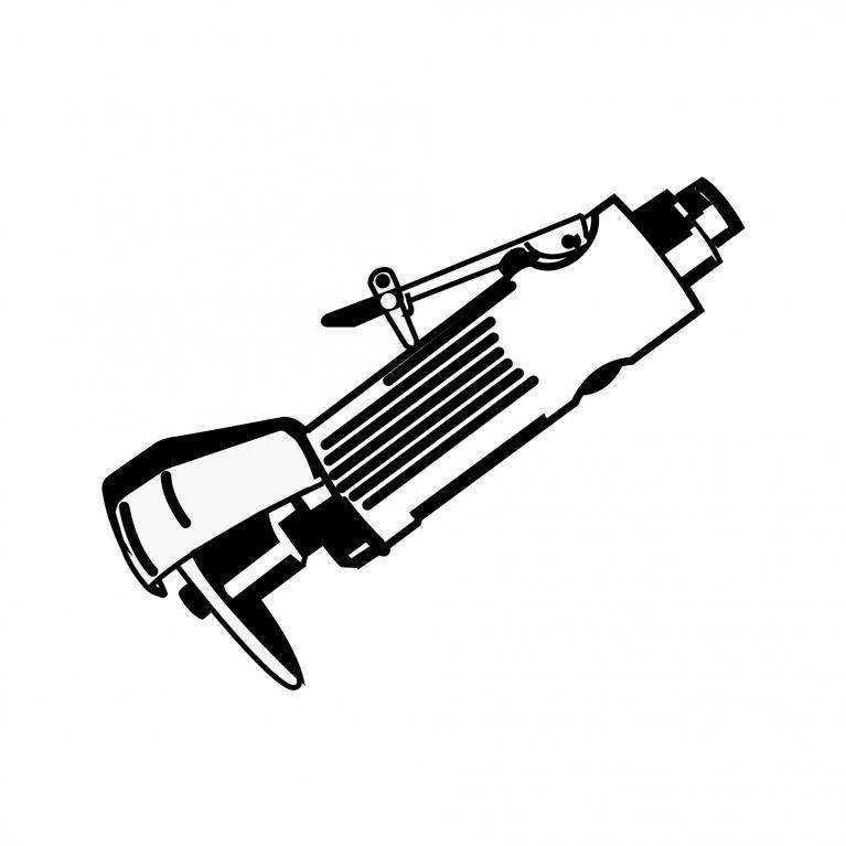 Pneumatische rechte slijper