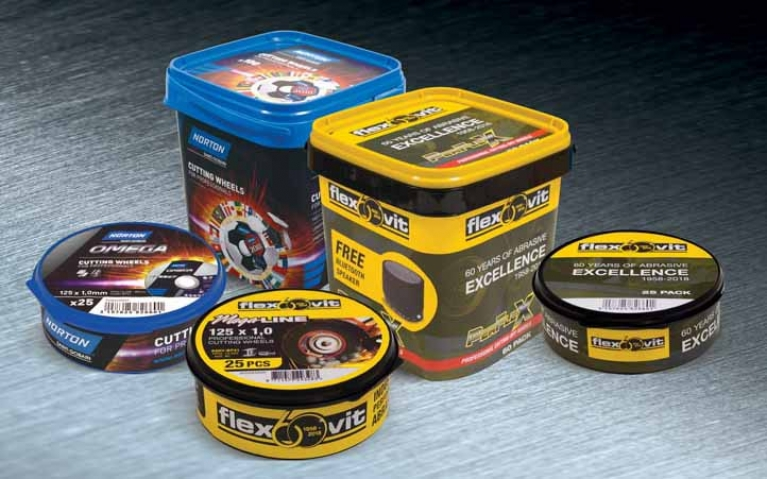 Best-selling cutting discs are now in ultra-protective tubs