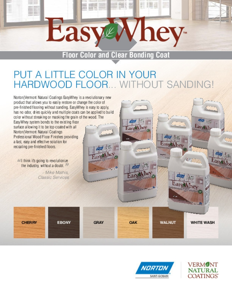 Norton | Vermont Natural Coating EasyWhey Floor Color Flyer - 8677