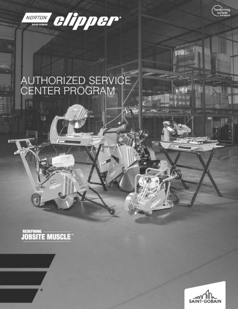 Norton Clipper Authorized Service Center Program - 8106
