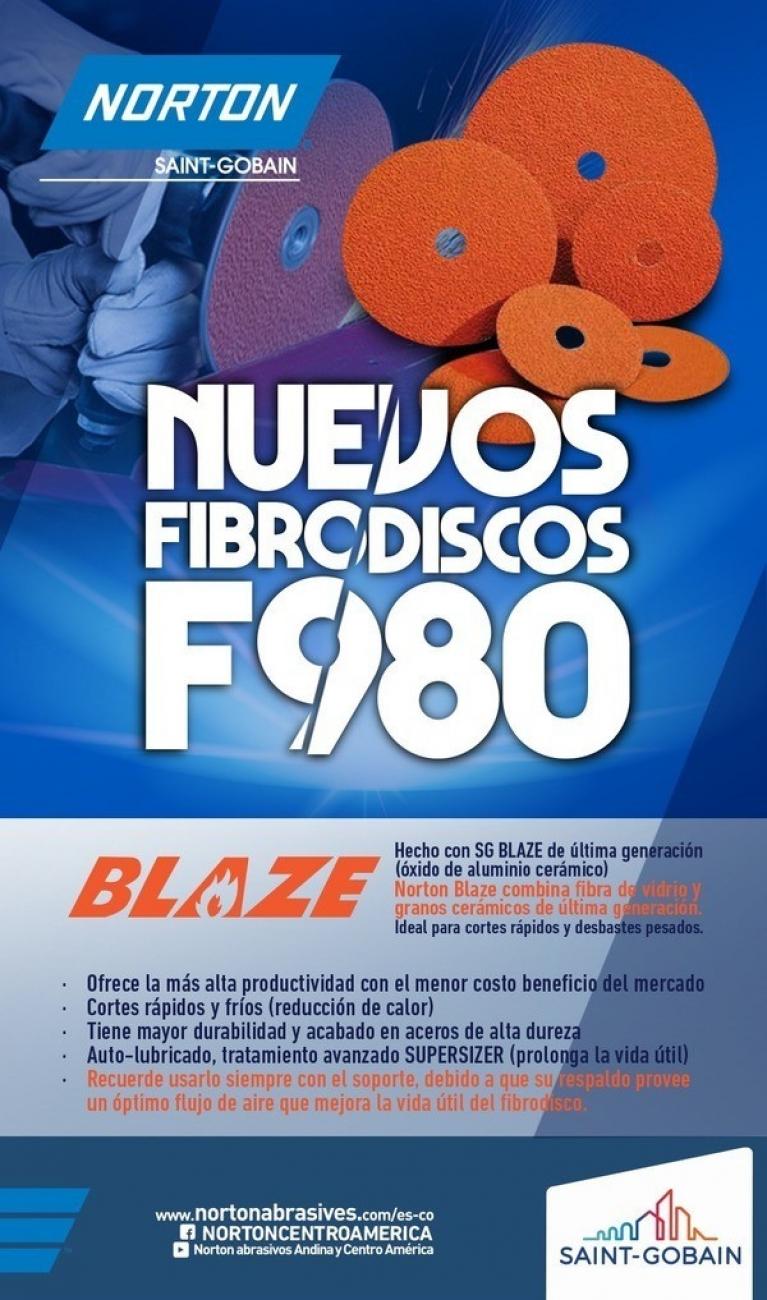 Nuevos Fibrodiscos F980 con tecnología Blaze