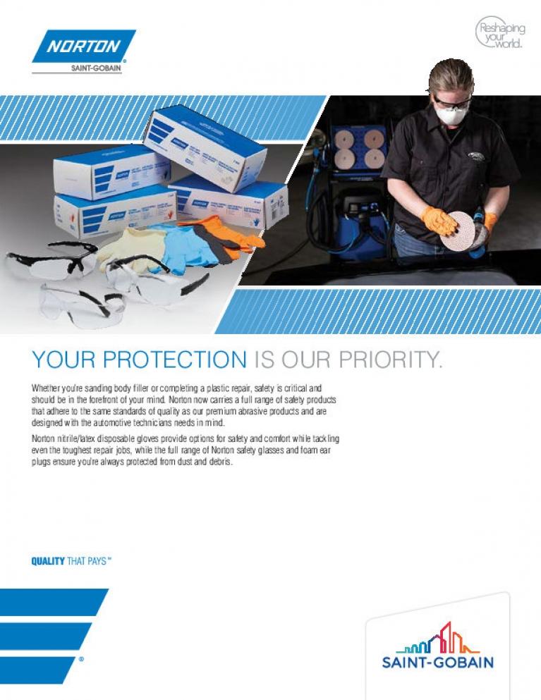 Norton Automotive Safety Products Flyer - 8609
