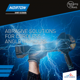 Abrasive solutions for cordless angle grinders