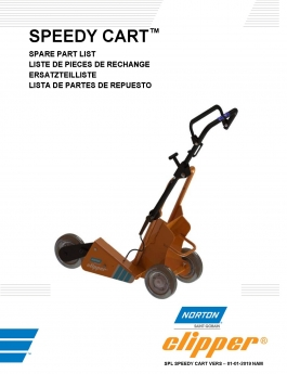 Norton Clipper High-Speed Saw Speedy Cart Owners Manual