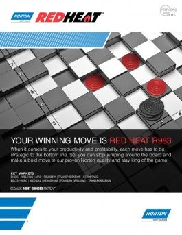Norton Red Heat Discs and Belts Brochure - 8658