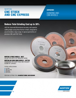Norton Winter CNC Diamond and cBN Wheels Brochure - 8375