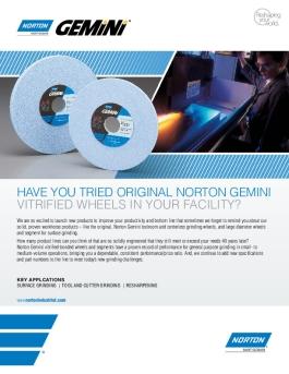 Norton Gemini Vitrified Surface Grinding Wheels - Brochure 8683