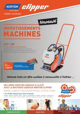 """Brochure opération """"Investissement Machines"""" boutique Norton-Clipper"""