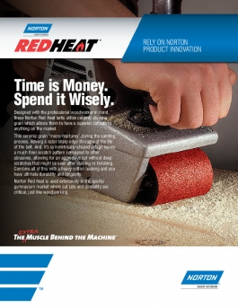 Norton Red Heat Belts for Woodworking Flyer - 8402