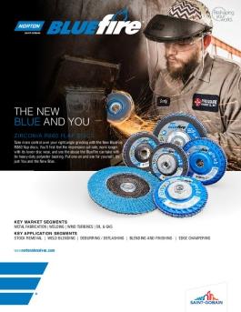 Norton BlueFire R860 Flap Discs Flyer - 8266