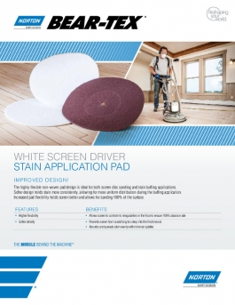 Norton Stain Application Floor Pad Flyer - 8420