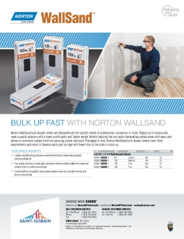 Norton WallSand Drywall Sheets Flyer - 8640