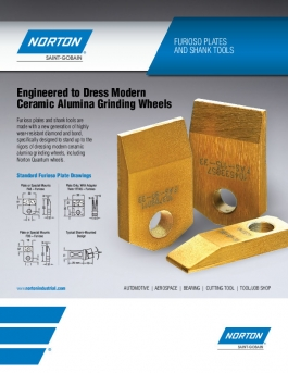 Norton Winter Furioso Plates and Shank Diamond Dressing Tools Flyer - 8244