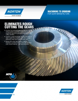 Norton Machining To Grinding for Gear Manufacturing Flyer - 8083