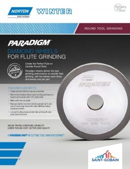 Norton Winter Paradigm Diamond Wheels for Flute Grinding Flyer - 8322
