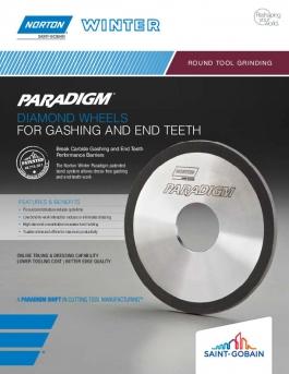 Norton Winter Paradigm Diamond Wheels for Gashing and End Teeth Flyer - 8456